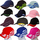 MOTORSPORT BASEBALL CAP Motor Racing Chequered Flags