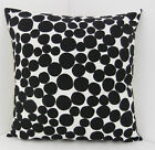 SPOTTED SCATTER CUSHION COVERS BLACK AND WHITE SPOTS