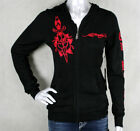 Ed Hardy LOVE KILLS Embroidered SKULL Hoodie Sweater