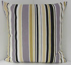 CUSHION COVERS  TRENDY RETRO STRIPED BLACK GREY FAWN  SINGLE SCATTER COVERS