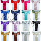 New Satin Chair Sash Bow Wedding Party Cover Banquet