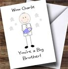 PERSONALISED BIG BROTHER CONGRATULATIONS CARD NEW BIG BROTHER HOLDING BABY