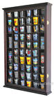 Wall Shadow Box Cabinet Rack to hold 56 shot glasses Display Case SC56