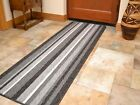 Charcoal Dark Grey Silver Non Slip Backing Washable Kitchen Runners Door Mat Rug