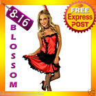B92 MOULIN ROUGE BURLESQUE Ladies SALOON GIRL Can Can Fancy Dress Costume