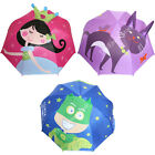 Childrens Novelty Umbrella Princess Super Hero Cat Pink Blue Purple Kids Brollie