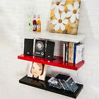 One High Gloss Floating Wall Display Shelves in Black&White colour