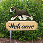 Schnauzer Miniature Welcome Sign Stake. Home & Garden Dog Wood Products & Gifts.
