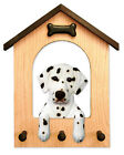 Adult Dalmatian Dog House Leash Holder. In Home Wall Decor Products & Gifts.
