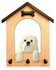 Adult Havanese Dog House Leash Holder. In Home Wall Decor Products & Gifts.