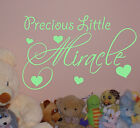 LITTLE MIRACLE WALL QUOTE , nursery VINYL  sticker , PRICE FROM 2.9£    N38