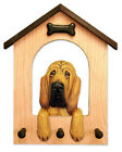 Bloodhound Dog House Leash Holder. In Home Wall Decor Wood Products & Dog Gifts.
