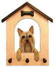 Silky Terrier Dog House Leash Holder.  In Home Wall Decor Wood Products & Gifts.