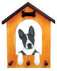 Basenji Dog House Leash Holder. In Home Wall Decor Wood Products Dog Breed Gifts