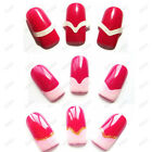 Professional 3in1 French manicure tip guide for Nail Art Fingers Toes Manicure