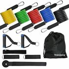 NEW RESISTANCE BANDS SET YOGA CROSSFIT FITNESS EXERCISE WORKOUT 11 PIECE TUBES