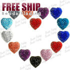 Wholesale Resin Heart Love crystal cabochon cameo flatback settings FREE SHIP