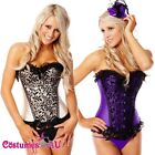 New Burlesque Satin Corset Lace up Bustier g string tutu skirt