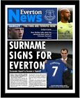 Football Club Newspapers Front Page Personalised for a great gift