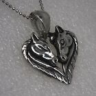 HORSE HEART Couple love friendship valentine's unicorn Silver Pewter pendant