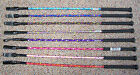 NEW RIDING CROP / WHIP, MANY COLOURS, PONY/HORSE & SPARKLY DESIGN