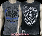 AFFLICTION Men's muscle tank REVERSIBLE Dark Star black grey A5606