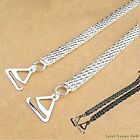 1 pair Beautiful Smooth Metal Chain Fashion Bra Straps Silver or Black BS1027