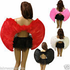 Adults Real Feather Angel Wings in Black White Pink Red Devil Dark Angel Party