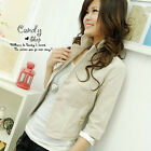 Simple Office Lady Top Blazer Suit Coat 3/4 Sleeve HOT