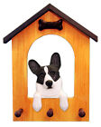 Welsh Corgi (Cardigan) Dog House Leash Holder. In Home Wall Decor Pet Products.