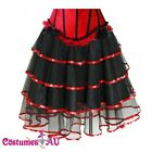New Black with Red Satin Burlesque Petticoat Costume Skirt