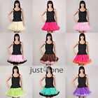 Chiffon Women Teen Girls Princess Pettiskirt full Party Ballet Mini Tutu Skirt