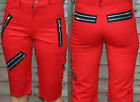 Red zip punk shorts by Tiger of London