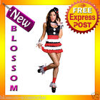 C564 Sexy Lady Circus Outift Cirque Clown Fancy Dress Halloween Party Costume