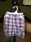 OshKosh B'Gosh Blue, White & Red Plaid Shorts - Choice of Size!