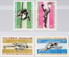 FRENCH POLYNESIA POLYNESIEN 1966 63-66 223-26 2nd South Pacific Sport Games MNH