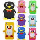 For Apple iPhone 4 / 4S / 4G / 4GS Cute Penguin Soft Silicone Protective Case