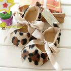 Leopard Toddler Baby Girl shoes Mary Janes Bows(D39)size 6-15