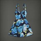 $120 NEW Abercrombie & Fitch Women FLORAL DRESSES SKIRT Blue