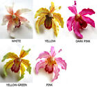 (4pcs) Large Silk Hawaiian Cymbidium Orchids Artificial Flower Heads Lot Wedding
