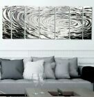 Statements2000 Silver Abstract Metal Wall Art Panels by Jon Allen Ripple Effect