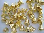 """24 Small 1/2"""" Craft Jingle Bell Christmas/Bow/embellishment/ornament/bow M6-Gold"""