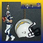 NFL SAN DIEGO CHARGERS RIDDELL HELMET & PHILIP RIVERS FIGURE CEILING FAN PULLS $27.99 USD on eBay