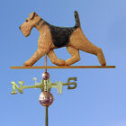 Airedale Custom Wooden Hand Carved Weathervane.Home,Yard,Barn-Roof Dog Products