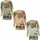 Marianna New Womens American Flag Jewelled Heart Print Batwing Top Ladies Top
