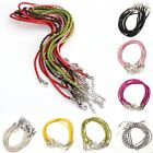 10/100pcs Man-made Leather Braid Rope Hemp Necklace many colours to choose