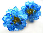 """12X Artificial Silk Peony Flower Heads 4"""" Wholesale lots for Wedding Hair Clip"""