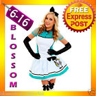G16 Ladies Alice In Wonderland Fancy Dress Halloween Outfit Disney Theme Costume