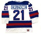 MIKE ERUZIONE TEAM USA HOCKEY JERSEY 1980 GOLD MEDAL