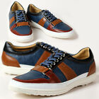 New Unique Mens Sneakers Blue Comfort Casual Lace Up Shoes